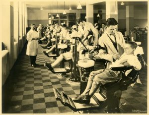 Pediatric Orthodontic Clinic at what was then called the Columbia University School of Dental & Oral Surgery (now renamed the College of Dental Medicine), ca. 1930.