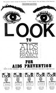 Page from the UCSF AIDS Health Project records, AR 2007–14.