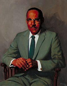 Vivien T. Thomas, oil portrait by Bob Gee, 1969